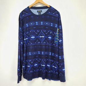 Polo RL Aztec Print Thermal NWT